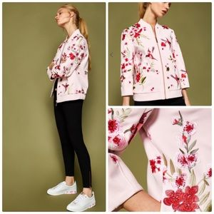 Ted Baker London Leelah Embroidered Bomber Jacket
